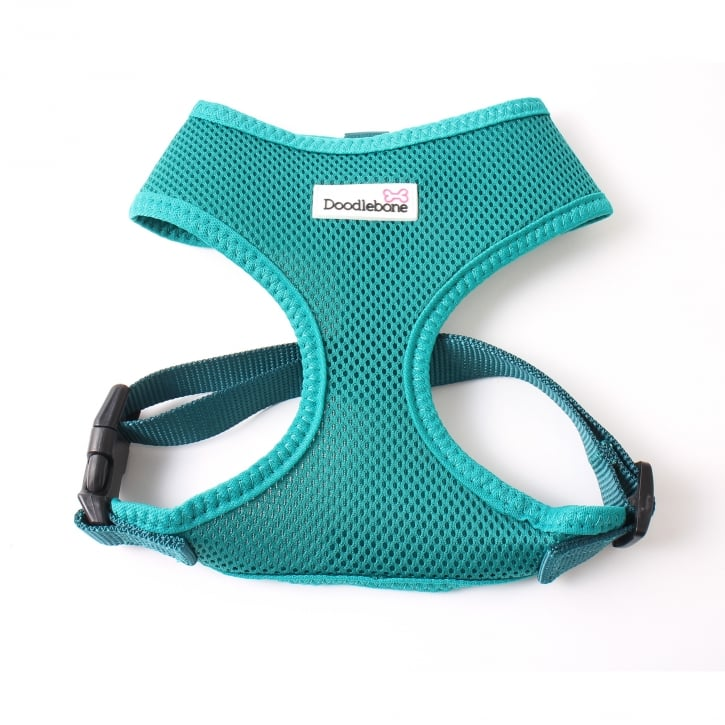 Doodlebone Airmesh Padded Dog Harness Teal X-Large