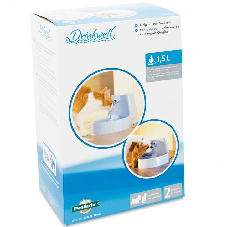 Drinkwell Original Pet Water Fountain For Cats & Dogs
