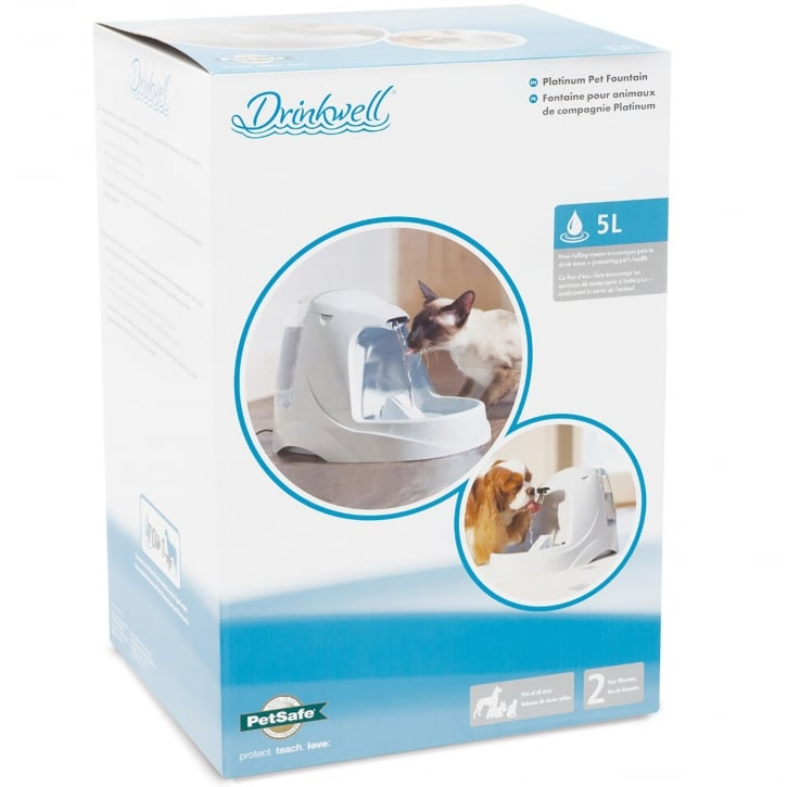 Drinkwell Platinum Pet Water Fountain For Cats & Dogs
