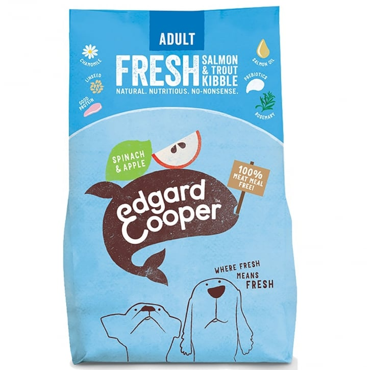 Edgard & Cooper Fresh Salmon & Trout With Spinach & Apple Adult Dog Food 2.5kg