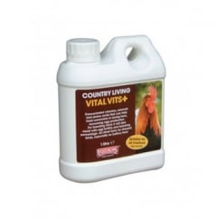 Equimins Country Living Vital Vits Plus Liquid Vitamin Mineral Poultry Supplement 1 Litre
