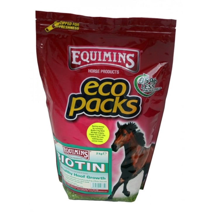 Equimins Horse Products Biotin 15 Horse 2kg Eco Pack