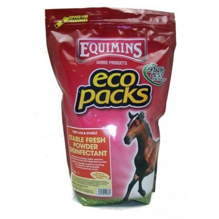 Equimins Stable Fresh Dry Bed Disinfectant Powder 2.5kg Eco Pack