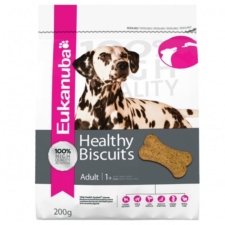 Eukanuba Adult Dog Treats Healthy Biscuits For All Breeds 200g