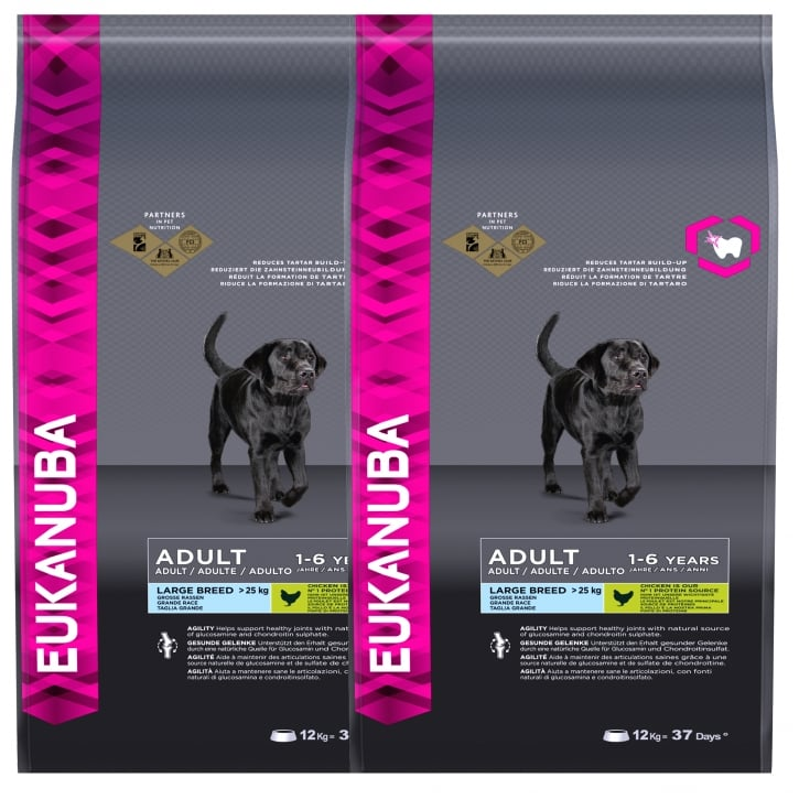 Eukanuba Adult Large Breed Dog Food With Chicken 2 x 12kg