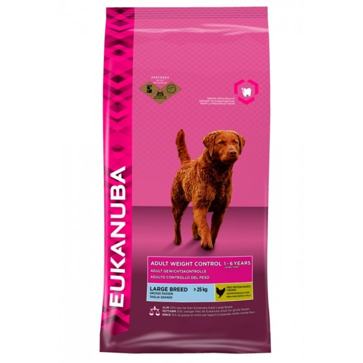 Eukanuba Adult Weight Control Large Breed Dog Food with Chicken 12kg