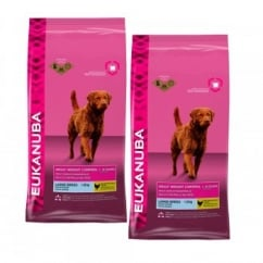 Eukanuba Adult Weight Control Large Breed Dog Food With Chicken 2 x 14kg