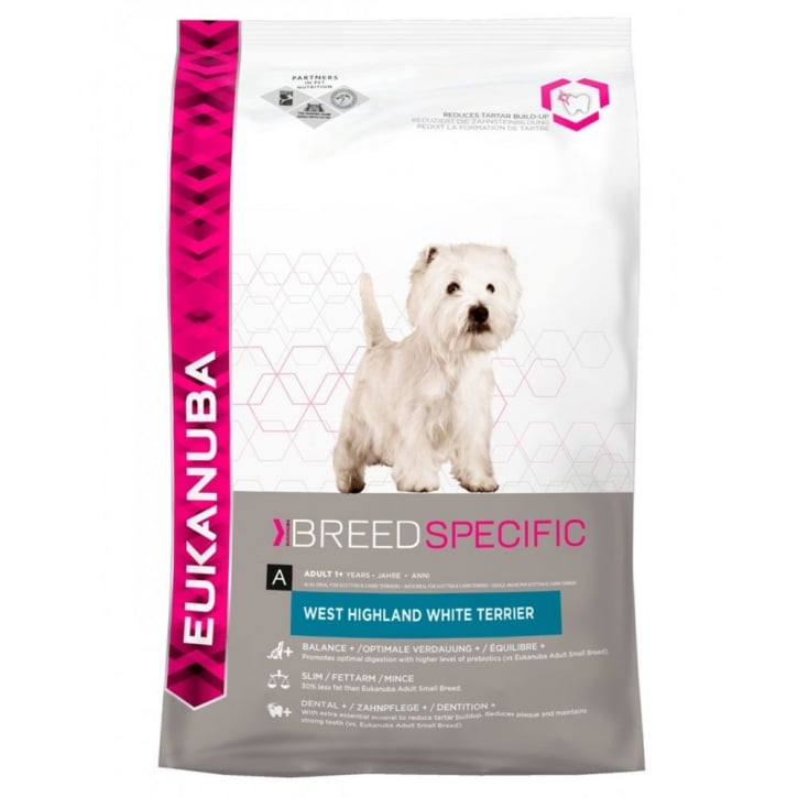 Eukanuba Breed Nutrition West Highland Terrier Dog Food with Chicken 2.5kg