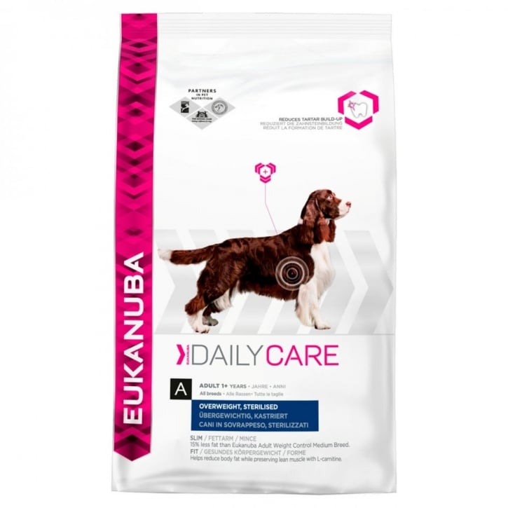 Eukanuba Daily Care Overweight / Sterilised Dog Food with Chicken 12kg