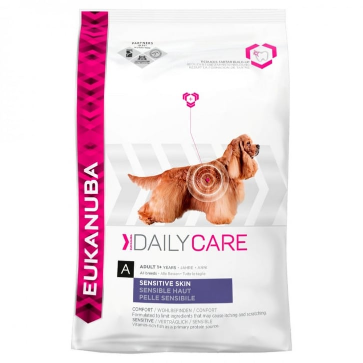 Eukanuba Daily Care Sensitive Skin Adult Dog Food with Chicken 12kg