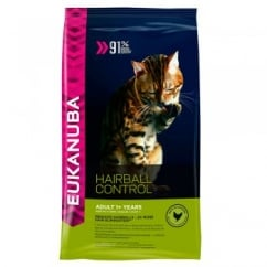 Eukanuba Hairball Control Adult Dry Cat Food for Indoor Cats 400g