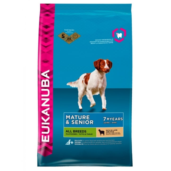 Eukanuba Mature & Senior All Breeds Dog Food with Lamb & Rice 12kg