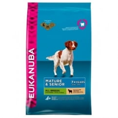 Mature & Senior All Breeds Dog Food with Lamb & Rice 12kg