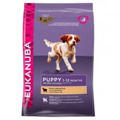 Puppy & Junior Dog Food With Lamb & Rice 12kg
