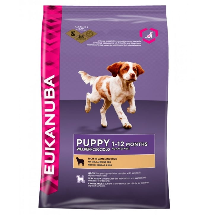 Eukanuba Puppy & Junior Dog Food With Lamb & Rice 2.5kg