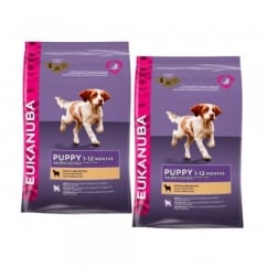 Puppy & Junior Dog Food With Lamb & Rice 2 x 12kg