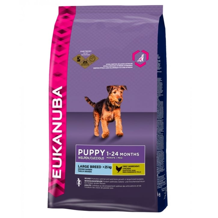 Eukanuba Puppy & Junior Large Breed Dog Food With Chicken 12kg