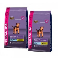 Puppy & Junior Large Breed Dog Food With Chicken 2 x 12kg