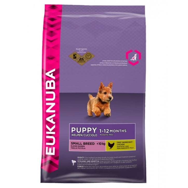 Eukanuba Puppy & Junior Small Breed Dog Food With Chicken 3kg