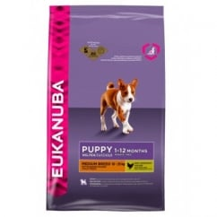 Eukanuba Puppy Medium Breed Dog Food With Chicken 12kg