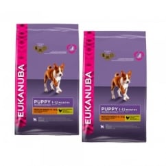 Eukanuba Puppy Medium Breed Dog Food With Chicken 2 x 12kg