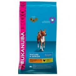 Senior & Mature Medium Breed Dog Food with Chicken 12kg