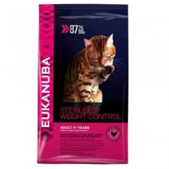 Eukanuba Sterilised/Weight Control Adult Dry Cat Food in Rich Chicken 400g