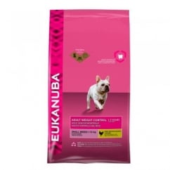 Eukanuba Weight Control Adult Small Breed Dog Food with Chicken 3kg