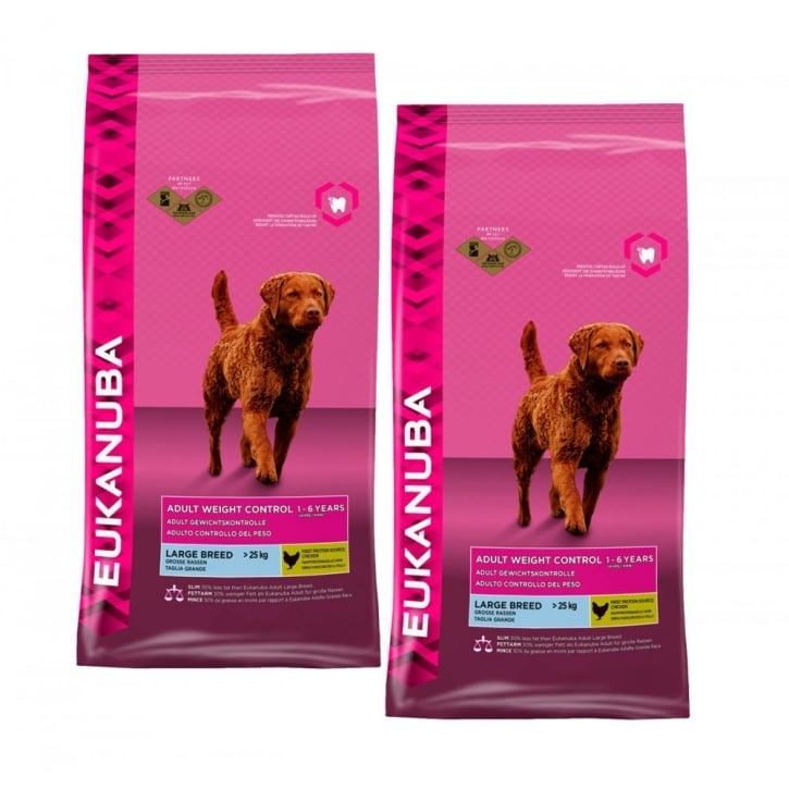 Eukanuba Weight Control Large Breed Dog Food With Chicken 2 x 12kg