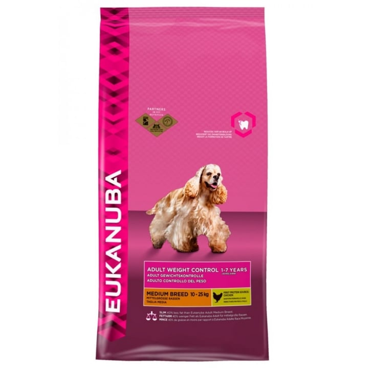 Eukanuba Weight Control Medium Breed Dog Food with Chicken 12kg