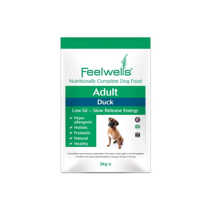 Feelwells Complete Adult Dog Food Duck 2kg