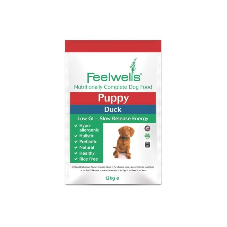 Feelwells Complete Puppy Dog Food Duck 12kg