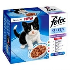 Felix Mixed Selection Pouches In Jelly For Kittens Pack 12 X 100gm