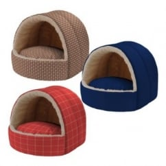 Ferplast Alveo Cotton And Fur Cushion Cat Bed Small