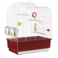 Eva Small Bird Cage - White