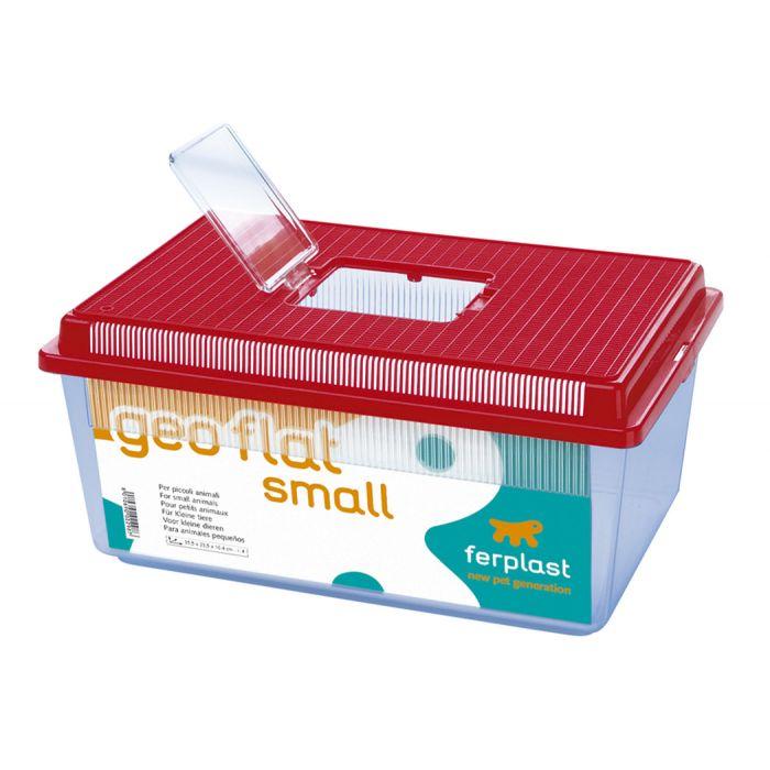 Ferplast geo flat plastic small animal fish tank size for Small plastic fish