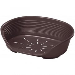 Siesta 10 Plastic Dog Bed - Brown
