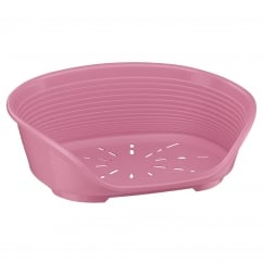Siesta 2 Plastic Dog Bed - Pink