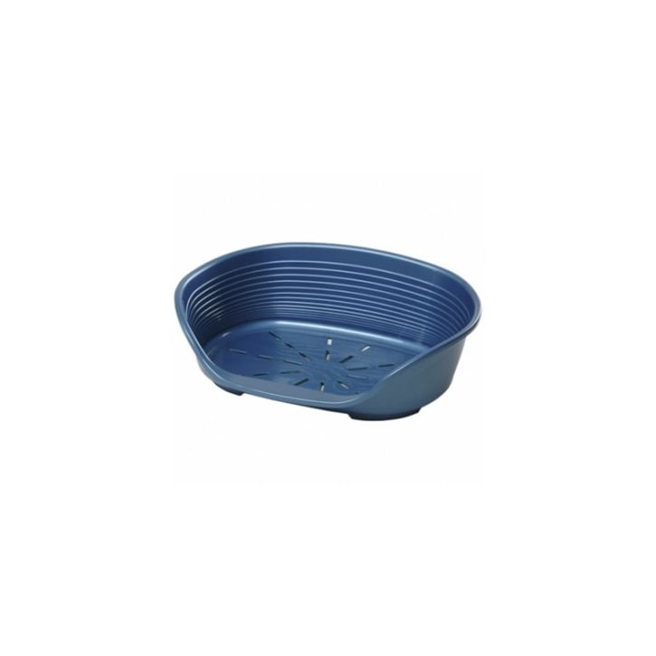 Ferplast Siesta 8 Plastic Dog Bed - Blue