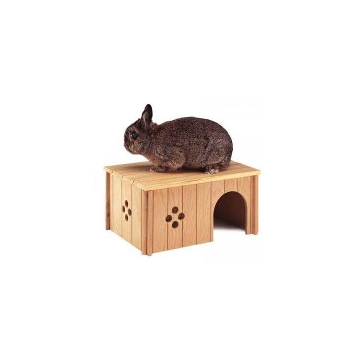 Ferplast sin wood rabbit house large feedem for Rabbit house images