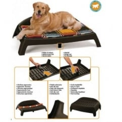 Ferplast Sleepy 80 Plastic Ergonomic Shaped Dog Bed