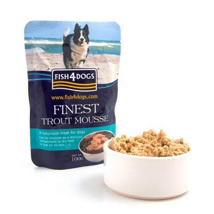 Fish4Dogs Finest Trout Mousse 4 Dogs 6x100gm Pack