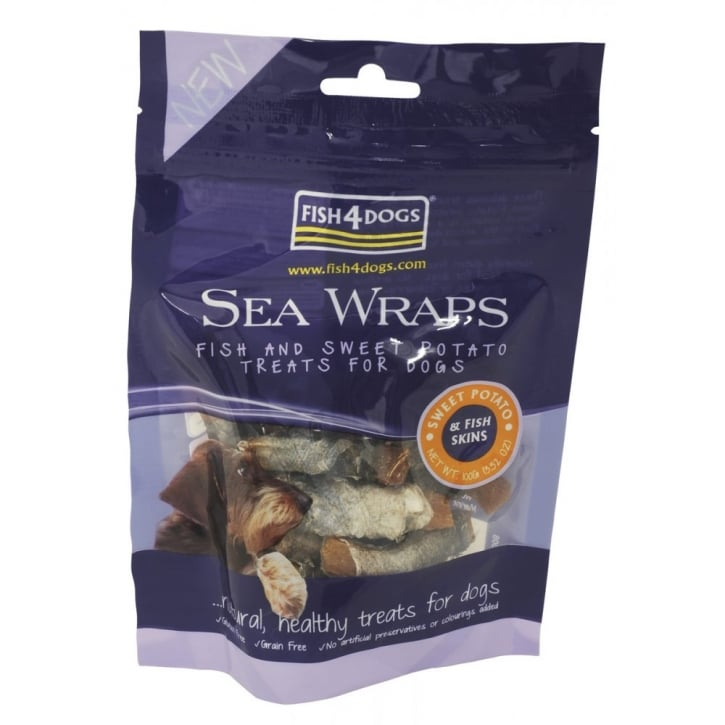 Fish4Dogs Sea Wraps Sweet Potato Dog Treats 100g