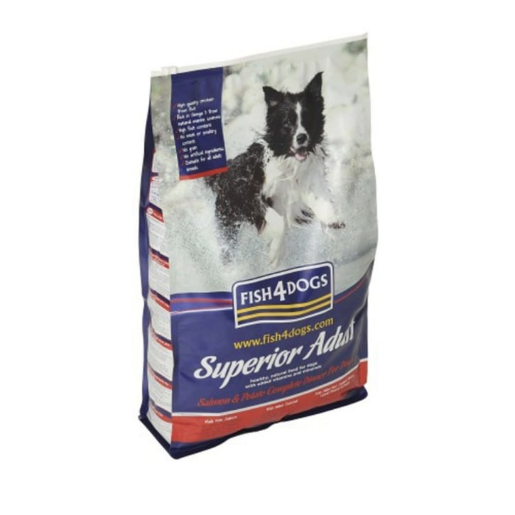 Fish4Dogs Superior Adult Complete Dog Food Regular Bite Salmon & Potato12kg