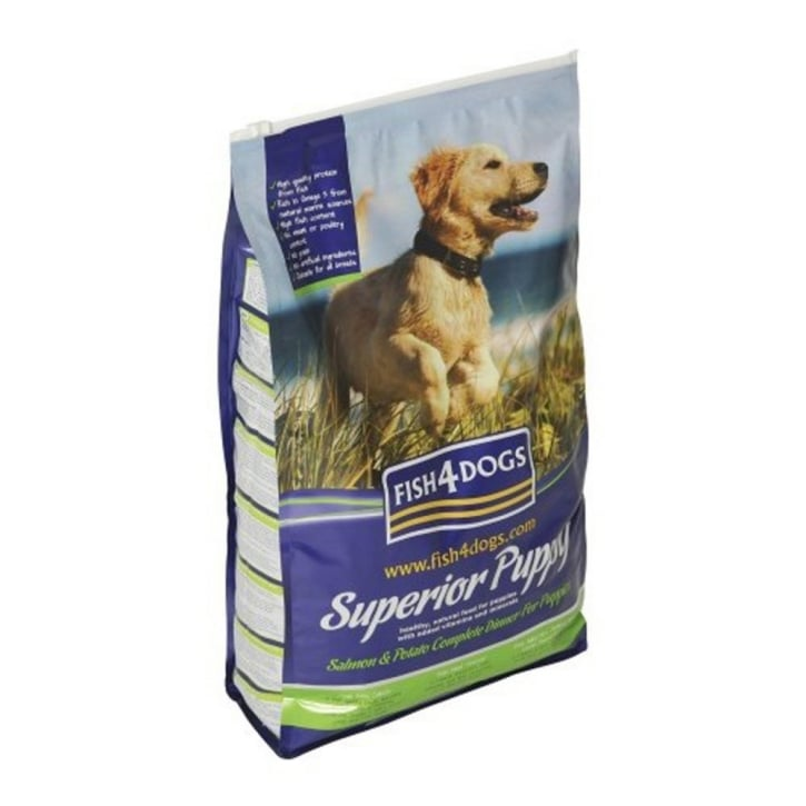 Fish4Dogs Superior Puppy Dog Food Salmon & Potato Regular Bite 12kg