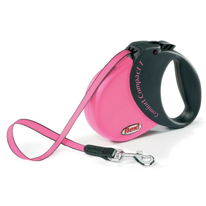Buy Flexi Comfort Compact Tape 1 Dog Lead Pink