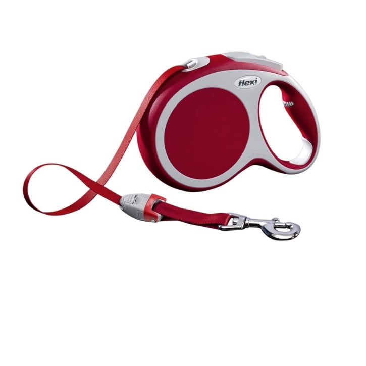 Flexi Vario Large Tape Dog Lead 8 Metres Red
