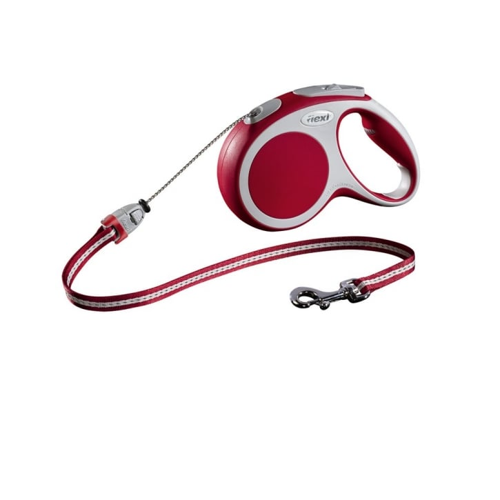 Flexi Vario Medium Cord Dog Lead 5 Metres Red