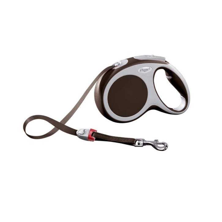Flexi Vario Medium Tape Dog Lead 5 Metres Brown