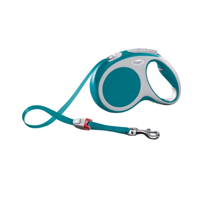 Flexi Vario Medium Tape Dog Lead 5 Metres Turquoise